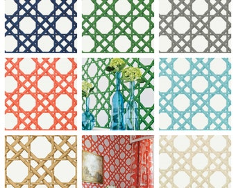 Thibaut Cyrus Cane  Wallpaper (Packaged in double rolls)  (other colors available)