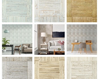 Designer Thibaut Mosaic Weave Wallpaper (Packaged in double rolls) (other colors available)