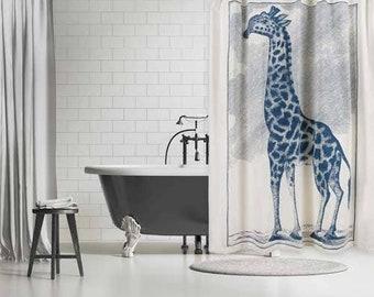 Thomas Paul Giraffe Etching Shower Curtain