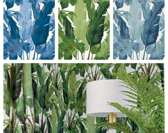 Designer Thibaut Travelers Palm Wallpaper (Packaged in double rolls) (other colors available)