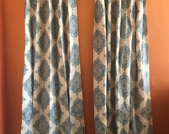 Pair of Designer Mani Drapes With Lining- Ready to Ship