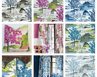 Designer Thibaut Daintree Fabric by the yard (Other colors available)