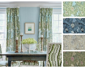 Custom Designer Thibaut Desmond Drapes You pick the fabric and style - Lined