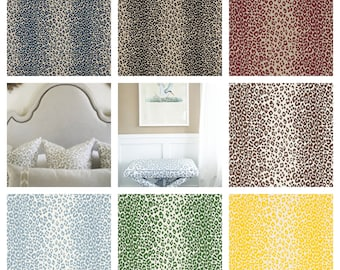 F. Schumacher Iconic Leopard Fabric By The Yard (other colors available)