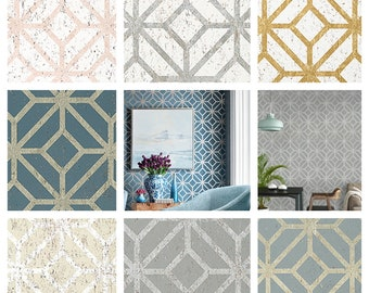 Thibaut Mamora Trellis Cork Wallpaper (Packaged in double rolls) (other colors available)