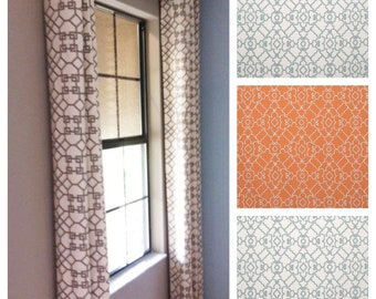 The Windsor Trellis Drape with Lining - You pick the Fabric