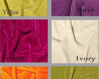 Custom Silk Velvet Drapes - Lined