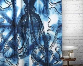 Thomas Paul Octopus Shibori Shower Curtain