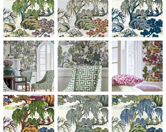 Thibaut Anna French Asian Scenic Wallpaper (Packaged in double rolls) (other colors available)