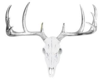Large Deer Head Wall Art - bronze or white