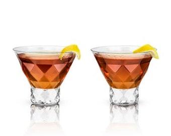 Naples Crystal Martini Glasses