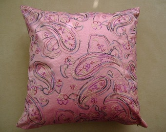 The Lille Silk and Taffeta Embroidered Pillow Cover - ready to ship