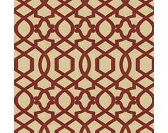 2.5 yards Iman Sultana Lattice Fabric Amarylis