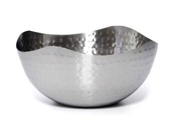Stainless Steel Hammered Salad Serving Bowl
