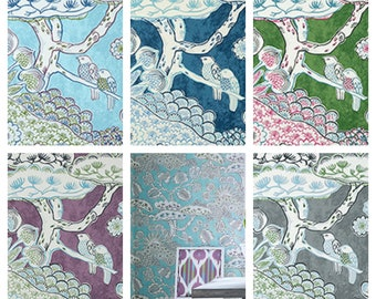 Thibaut Anna French Tree House Wallpaper (Packaged in double rolls) (other colors available)