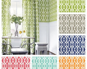 Custom Designer Thibaut Resort Downing Gate Drapes You pick the fabric and style - Lined