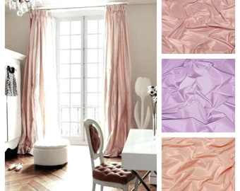 Silk Taffeta Drape with Thermal Lining - You pick the color and style