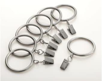 Designer Metal Drapery Rings - you pick the finish