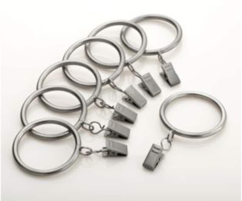 Designer Metal Drapery Rings  you pick the finish image 0