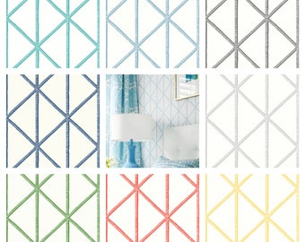 Designer Thibaut Box Kite Wallpaper (Packaged in double rolls)  (other colors available)
