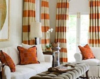 Custom Solid or Stripe Velvet Drape -Lined