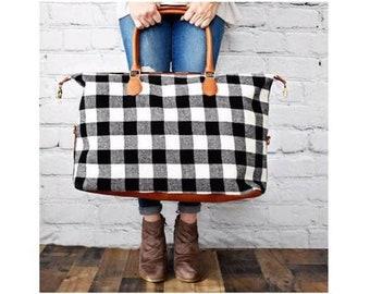 Classic Buffalo Plaid Weekender Bag