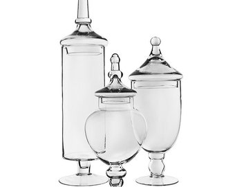 Glass Apothecary Jars (Large Size Options)