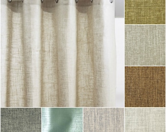 Custom Robert Allen Metallic Linen Drapes- You pick the fabric and style - includes lining