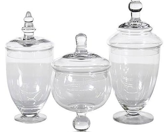Glass Apothecary Jars (Medium Size Options)