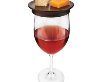 Mahogany Hors d'oeuvre Wine Glass Toppers (set of 4)