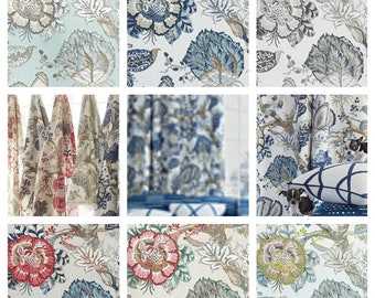 Custom Designer Thibaut Anna French Kalamkari Vine Fabric By The Yard (other colors available)