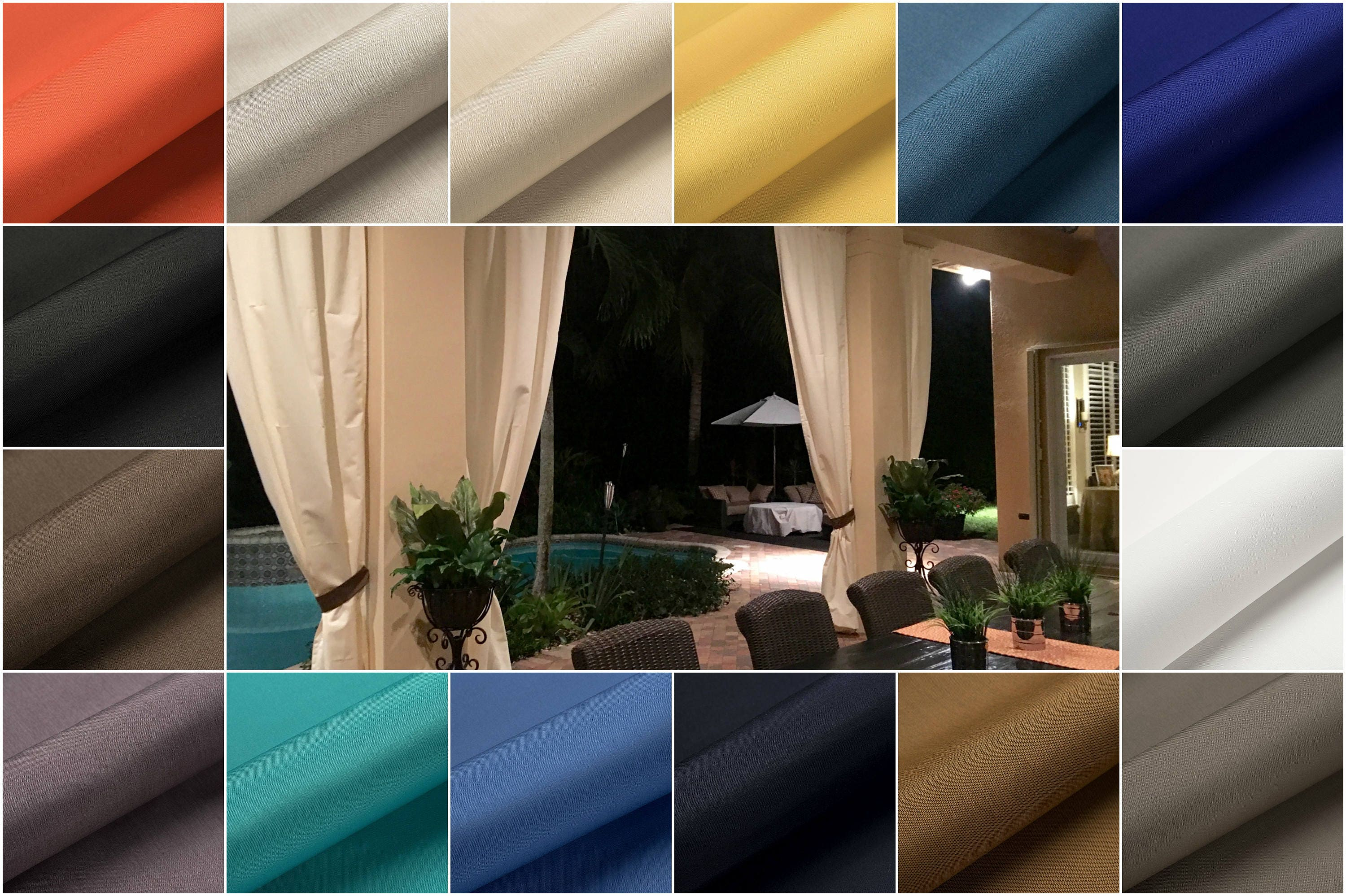 Designer Custom Outdoor Stripe And Solid Patio Drapes   You Pick The Style  And Colors