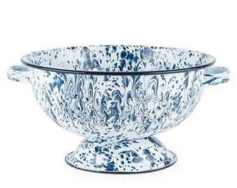 Hudson Porcelain Enamel Colander