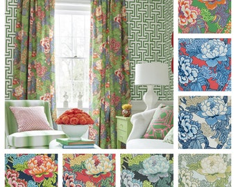 Custom Designer Thibaut Honshu Drapes: You pick the fabric and style - Lined