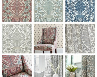 Custom Designer Thibaut Anna French Palampore Drapes You pick the fabric and style - Lined