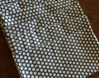 Mod Charcoal Dot Cloth Napkin - Ready to ship