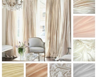 Silk Dupioni Drape with Thermal Lining - You pick the color and style