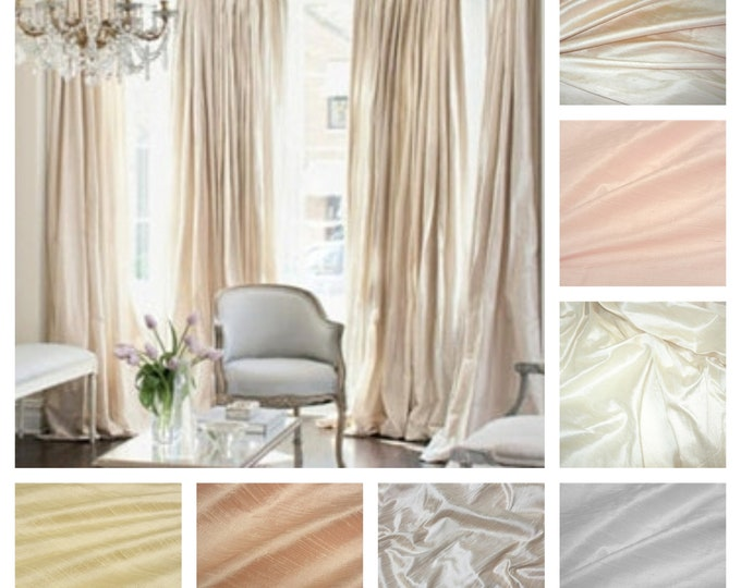 Featured listing image: Silk Dupioni Drape with Thermal Lining - You pick the color and style