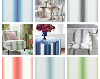 Designer Thibaut Stockton Stripe Fabric by the yard (Other colors available)