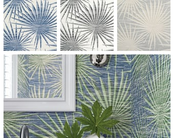 Designer Thibaut Palm Frond Wallpaper (Packaged in double rolls) (other colors available)