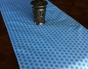 """Aqua table runner 17"""" x up to 74"""" long- ready to ship"""
