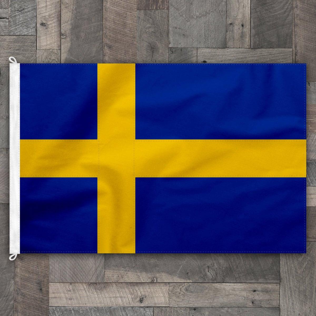 100 baumwolle gen ht design flagge von schweden etsy. Black Bedroom Furniture Sets. Home Design Ideas