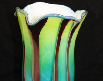 Beautiful Hand Blown Glass Vase Home Decoration