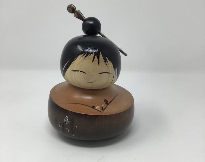 Cherry wood Kokeshi