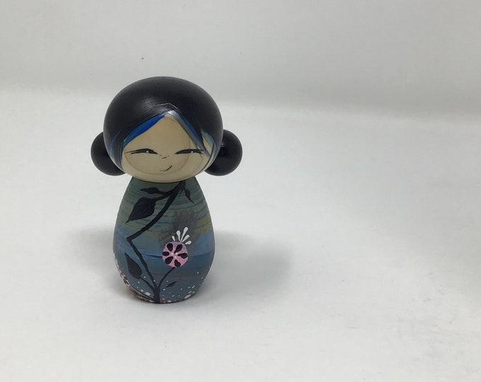 Little blue girl