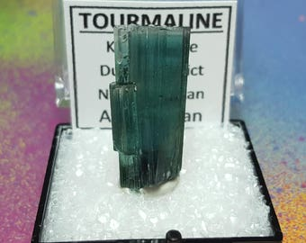 Sale INDICOLITE TOURMALINE Top Quality 4.6 Gram Terminated Blue Collector Gemstone Crystal In Perky Specimen Box From Nuristan Afghanistan