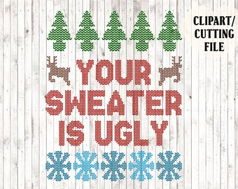 Ugly Sweater Svg Etsy