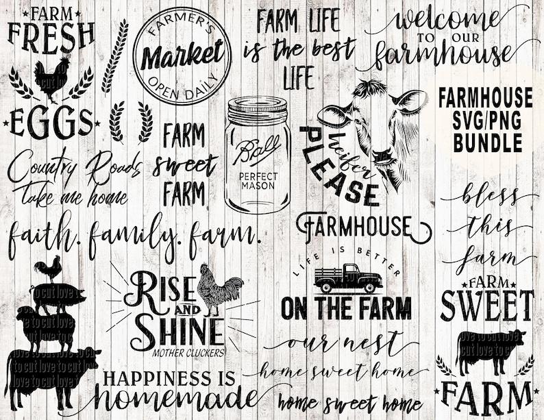 Farm svg bundle farmhouse svg bundle farm life svg farm svg | Etsy Country Farmhouse Svg Designs on farm house designs, country estate designs, country farm house, country shabby chic designs, country garage designs,