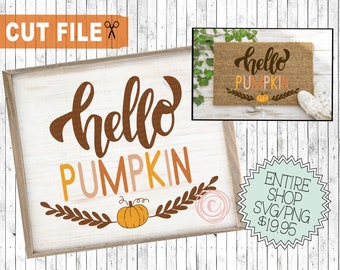 hello pumpkin cut file, fall saying svg, fall png commercial use clipart, fall doormat svg, cute pumpkin svg, fall designs svg, htv designs