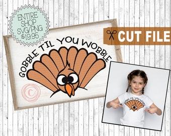 gobble til you wobble svg, thanksgiving svg kids, turkey gobble svg, turkey face svg, thanksgiving shirt svg, thanksgiving saying cut files